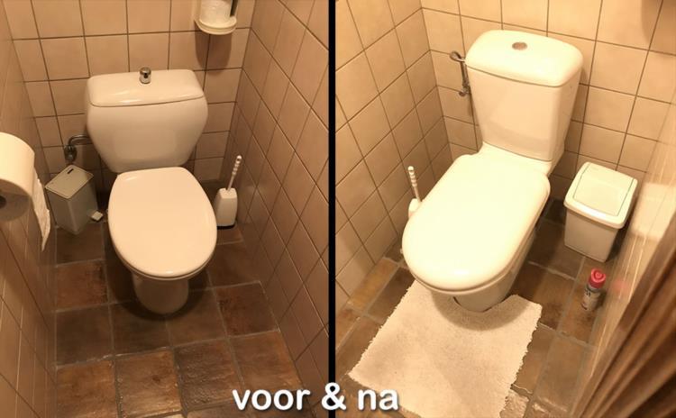 Nieuw toilet installeren